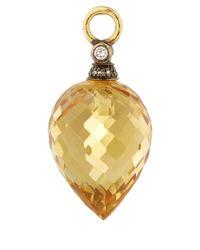 Annoushka - Metallic Gold Citrine And Diamond Alchemy Earring Drops - Lyst