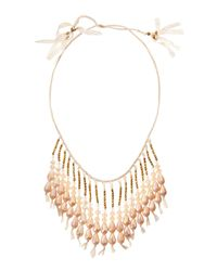 Nakamol | Natural Beaded Fringe Lace Necklace | Lyst