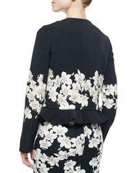 Erdem - Blue Anical Floral-border Jacket - Lyst