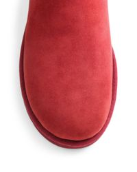 UGG - Red Classic Short Suede Bling Boots - Lyst