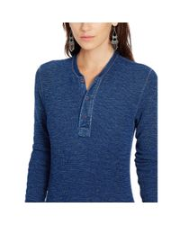 Polo Ralph Lauren - Blue Long-sleeve Henley Shirt - Lyst