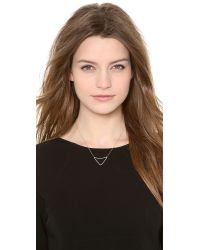 Kismet by Milka - Metallic Open Triangle Necklace - Gold - Lyst