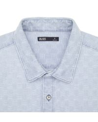 Onassis Clothing | Blue Indigo Jacquard Shirt for Men | Lyst