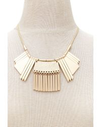 Forever 21 | Metallic Geo And Matchstick Statement Necklace | Lyst