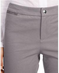 Lauren by Ralph Lauren - Gray Petite Straight-leg Stretch Pants - Lyst