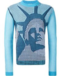 KENZO | Blue 'statue Of Liberty' Sweater for Men | Lyst