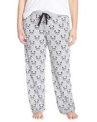 Cozy Zoe | Gray Jersey Knit Pants | Lyst