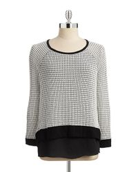 Lord & Taylor | Black Layered-style Top | Lyst