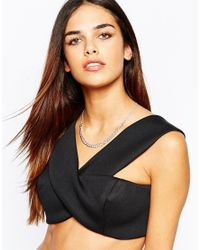 Lipsy | Metallic Fleur East By Silver Curb Chain Collar Necklace | Lyst