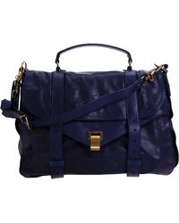 Proenza Schouler | Blue Ps1 Extra Large Leather | Lyst