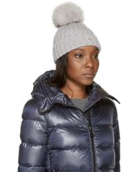Moncler | Gray Grey Berretto Hat | Lyst