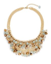 Saks Fifth Avenue | Metallic Layered Bead Cluster Necklace | Lyst