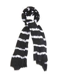 Raey | Black Tie-Dye Print Modal And Wool-Blend Scarf | Lyst