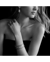 David Yurman - Cable Wrap Doubledrop Earrings with Black Onyx and Diamonds in Gold - Lyst