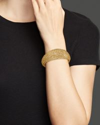 Roberto Coin | Metallic 18k Yellow Gold Plated Sterling Silver Stingray Hinged Bangle | Lyst