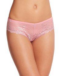 Wacoal - Pink Embrace Lace Tanga - Lyst