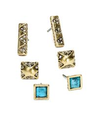 House of Harlow 1960 | Blue Plateau Stud Earrings Set | Lyst