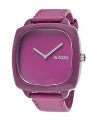 Nixon | Women's Shutter Rhodo Purple Genuine Leather & Dial | Lyst