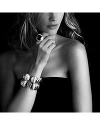 David Yurman | Black Waverly Bracelet with Diamonds 25mm | Lyst