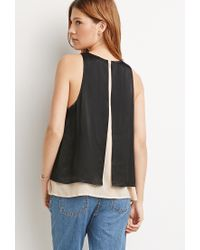 Forever 21 - Black Contemporary Layered Trapeze Top - Lyst