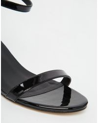 ASOS - Black Honeydew Heeled Sandals - Lyst