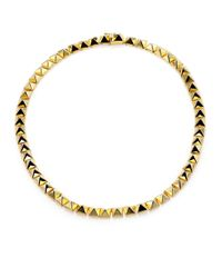 Eddie Borgo | Metallic Pyramid Link Necklace/Goldtone | Lyst