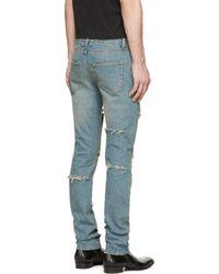 Saint Laurent - Blue Vintage Distressed Jeans for Men - Lyst