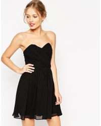 ASOS | Black Wedding Bandeau Mini Dress | Lyst