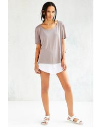 Silence + Noise - Gray Two For One Contrast Top - Lyst