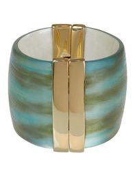 Alexis Bittar - Blue Wide Hinged Cuff Bracelet - Lyst
