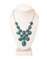 Forever 21 | Blue Opulent Faux Gemstone Necklace | Lyst
