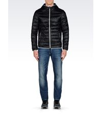 Armani Jeans - Black Down Coat for Men - Lyst