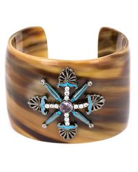 M.c.l  Matthew Campbell Laurenza | Brown Fleur-de-lis Motif Horn Bangle | Lyst
