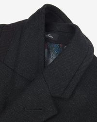 Ted Baker - Gray Textured Wool Overcoat for Men - Lyst