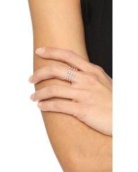 Luna Skye - Metallic Eight Diamond Open Band Ring - Lyst