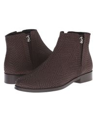 Armani Jeans | Brown Lizzard Printed Bootie | Lyst