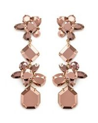 J.Crew | Pink Crystal Cluster Earrings | Lyst