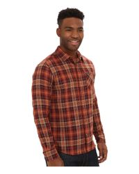 Volcom | Brown Gates Long Sleeve Flannel Top for Men | Lyst