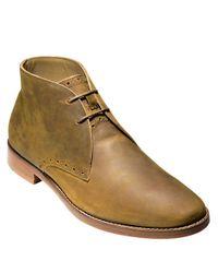 Cole Haan | Metallic Cambridge Leather Chukka Boots for Men | Lyst