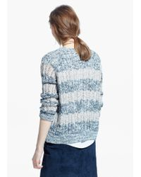 Mango | Gray Open-knit Sweater | Lyst