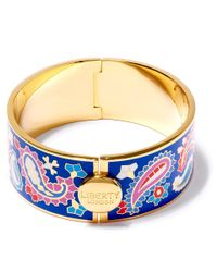 Liberty | Blue Denby Paisley Multicolour Thick Cuff | Lyst