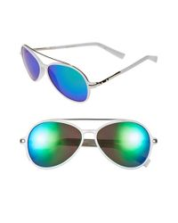 BCBGMAXAZRIA | Blue 56mm Aviator Sunglasses | Lyst