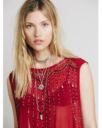 Free People | Multicolor Chloe Tee - Cherry Combo | Lyst