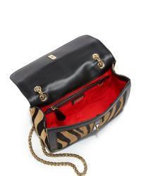 Christian Louboutin - Multicolor Sweety Charity Tiger-Patterned Calf Hair Shoulder Bag - Lyst