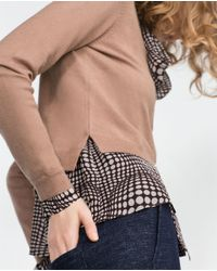 Zara | Brown Cropped Jacket | Lyst