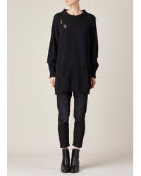 R13 - Black Big Slouchy Crew Sweater - Lyst