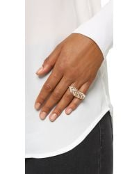 Rebecca Minkoff - Metallic Feather Knuckle Duster Ring - Lyst