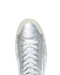Saint Laurent - White Coated-Canvas High-Top Sneakers for Men - Lyst