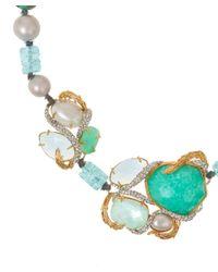 Alexis Bittar - Blue Single Strand Beaded Necklace - Lyst