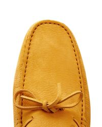 Tod's - Yellow Gommino Suede Driving Shoes for Men - Lyst